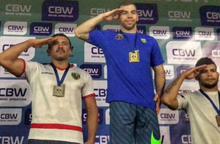 Tasso Alves é vice-campeão brasileiro de Wrestling