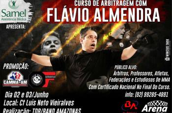 FLÁVIO ALMENDRA, REFERENCIA EM ARBITRAGEM  NO PAÍS ESTARÁ EM MANAUS