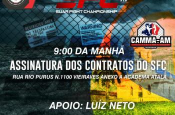 Atletas de MMA Assinam Contrato com o SFC de Coari nesta segunda 30 de Julho