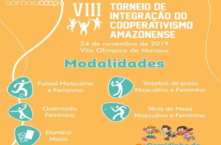 VIII Torneio de integração do cooperativismo Amazonense, acontece neste domingo dia 24 na vila Olímpica de Manaus